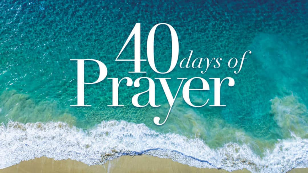 40 Days in Prayer graphic