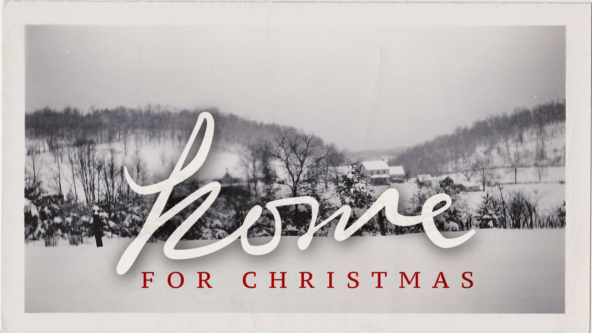 Home for Christmas graphic