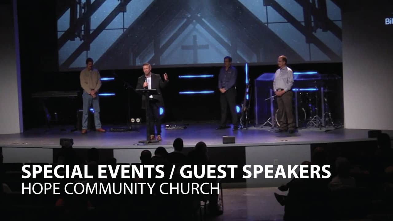 Special Events / Guest Speakers graphic